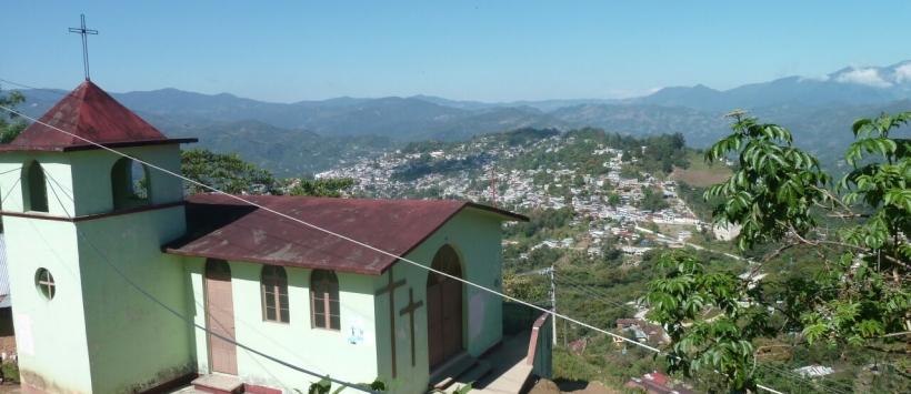 Huautla, entre montagnes et nuages